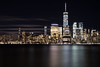 NYC Skyline (Manas_50mm) Tags: night nightphotography nightscape longexposure water nyc wtc reflection urban landscape city cityscape canon usa travel adventure beautiful love clouds sky building skyline skyscraper blur