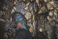 hey boots (james_drury) Tags: canonef2470mmf28liiusm lakedistrict thelakes hiking walking boots cumbria looking down wet rocks slippery grip mountains climbing scarpa mud muddy