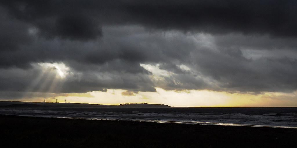 Storm clouds over Maryport, Cumbria, UK (17/1/18)