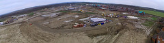 Backyard_14-1-18_Panorama (Roger Brown (General)) Tags: wootton bedfordshire fields road cranfield development building housing bricks earth excavation heavy plant roger brown landscape panorama grass field sky quadcopter aerial view drone