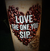 And When You Can't Sip On The One You Love... (raymondclarkeimages) Tags: rci raymondclarkeimages 8one8studios usa google yahoo flickr vs996 cup text heart worldblendscoffeeco beans cupofcoffee lg smartphone cameraphone coffeebeans freshcoffee indoor beverage