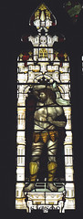 Tamworth, Staffordshire, St. Editha's, south aisle, west window, detail (groenling) Tags: tamworth staffordshire staffs england britain greatbritain gb uk stedithas southaisle oldtestament testament ot samson philistine shirtless holiday