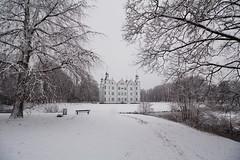 Ganz in weiß (Lilongwe2007) Tags: schleswig holstein winter ahrensburger schloss schnee eis kälte schwarz weis landschaft architektur stormarn