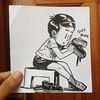 Cherry Polish! #school #childhood #shoepolish #littlethings #life #stories #art #illustration #sketchbook #dailydrawing #drawing #cartoon #brushpen #blackandwhite (lipuster) Tags: childhood life kids india innocence stories art illustration sketch drawing