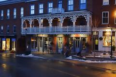 The Balcony (Brian 104) Tags: street scene night balcony storefront winter