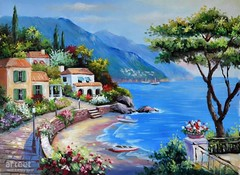 Cassis Bay, Art Painting / Oil Painting For Sale - Arteet™ (arteetgallery) Tags: arteet oil paintings canvas art artwork fine arts resort water waterfall sea travel summer tourism vacation landscape turquoise sky tree beach ocean sunny holiday outdoor coast hotel idyllic scenic river relaxation scene tranquil scenery shore sand europe coastline bay sun pool seascape horizon paradise park reflection leisure outdoors house town sunlight mediterranean boat cities buildings landscapes coasts orange blue paint