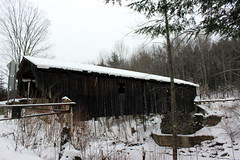Grist Mill Covered Bridge (pegase1972) Tags: white frost coveredbridge countryside bridge rural season outdoor landscape wood cold nature snow winter usa unitedstates us vt vermont pont