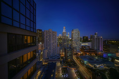 Same view. (karinavera) Tags: city longexposure night photography cityscape urban ilcea7m2 sanfrancisco blue sky