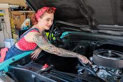 The Pin-Up Mechanic (Laveen Photography (aka cyclist451)) Tags: az arizona douglaslsmith laveenphotography phoenix cyclist451 model modeling muse photograph photographer photography pinup redhead wwwlaveenphotographycom sassysharlit sharlit pickuptruck tourquoise laveenphotographynet dougsmithlaveenphotography wwwlaveenphotographynet