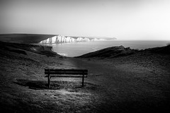 "Seven Sisters (Graham Hodgetts) Tags: bw bench blackandwhite chalk coast coastline countryside eastbourne england fujifilm fujinon monochrome ramble seaford seaside sevensisters silverefexpro2 southdowns southsownsway style walk wideangle xt1 xf1024f40r seascape sussex whitecliffs lewesdistrict unitedkingdom gb ""national park"" ""south downs way"" national"