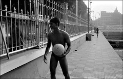Gol Dighi Swimmers (Doctorbabaguy_1) Tags: swim swimmer ball india calcutta kolkata composition bw blackandwhite street streetphoto leica leica96 summicron summicron35 film trix