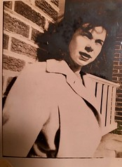 My mom, back in the 40's - probably at college. Sent by my cousin, going through his mom's things. Love it. (Cassi J) Tags: vintage 40s collegegirl