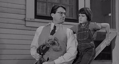 Gregory Peck, Mary Badham, To Kill a Mockingbird (1962) (classic_film) Tags: 1962 1960s sixties film movie tokillamockingbird cine cinema drama hollywood película celebrity vintage retro old alt oll classic clásico gregorypeck man actor akteur aktor acteur marybadham actress aktrice schauspielerin actrice actriz girl child kid nostalgic nostalgia blackandwhite monochrome añejo america usa unitedstates american época entertainment ephemeral family town south