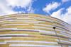Derby Arena (simonannable) Tags: derby derbyarena velodrome building modern architecture spaceage leading design fujifilmxt1 new avantgarde arena venue stadium cyclingtrack geometric shapes style cuttingedge pridepark urban