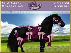 E-RH-FancyWrapper-Friesian-Valentine (honeyheart1) Tags: saddle bridle show horseshow horse realhorse eliteequestrian sl secondlife friesian