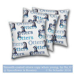 Design challenge entry: 'Smooth-coated otters copy when young by Su_G' cushions (mockup) (Su_G) Tags: smoothcoatedotterscopyopywhenyoungbysug smoothcoatedotters copywhenyoung sug spoonflower spoonflowercontest spoonflowerdesignchallenge roostery softfurnishing softfurnishings cushions pillows mockup otters otter young significantotters research learn learning problemsolvingtechniques problemsolving watchandlearn watchandcopy younglearnfasterthanparents younglearnfaster uexeter universityofexeter drnicoleduplaix otterresearch