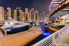 on the Yacht Club (funtor) Tags: dämmerungnacht dubai vae marina color light yacht night city skyscraper
