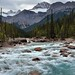 Rapids of the Mistaya River with a Mountain Backdrop (Banff National Park)