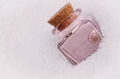 bottled up (JossieK) Tags: bottle cork snail shell pink glass snow macromondays inabottle small