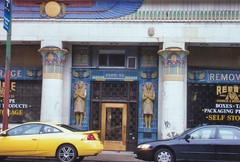 Chicago Illinois  - Reebie Storage Warehouse -  Architecture  Egyptian - Historic (Onasill ~ Bill Badzo) Tags: chicago il illinois cookcounty 2325 clark st n nrhp register historic architecture egyptian style reebie storage warehouse landmark ancient onasill attractionsite revival commercial building william pharaoh ramses ii sculptor portico entrance lobby northside store front saturn