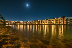 DSC08807 (karstenlützen) Tags: egypt redsea hurghada longtimeexposure landscape reflections nightshots night waterfront waterreflections moonlight sonyflickraward sigma1020f35