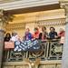 Rally in the Minnesota capitol rotunda for sensible gun laws