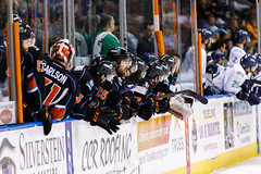 "Kansas City Mavericks vs. Florida Everblades, February 18, 2018, Silverstein Eye Centers Arena, Independence, Missouri.  Photo: © John Howe / Howe Creative Photography, all rights reserved 2018 • <a style=""font-size:0.8em;"" href=""http://www.flickr.com/photos/134016632@N02/40387892251/"" target=""_blank"">View on Flickr</a>"