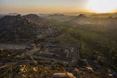 Hampi ruins (surobinda) Tags: hampi karnataka viyajanagara malyavantha nikon d750 70200 india heritage temple morning sunrise sky mountain