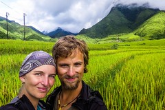 Rice selfie (zcesty) Tags: vietnam25 selfie rýže pole hory vietnam dosvěta laichâu vn