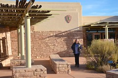 Sue At The Canyonlands National Park Needles District Welcome Center (Joe Shlabotnik) Tags: justsue nationalpark utah sue 2017 canyonlands november2017 canyonlandsnationalpark afsdxvrzoomnikkor18105mmf3556ged