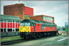 47749 Atlantic College (Jason 87030) Tags: midlands depot saltley res railexpresssysgtems spoon duff red livery 1999 2000 shot film negative scan br class47 atlanticcollege diesel loco engine locomotive photo photos pic pics socialenvy pleaseforgiveme picture pictures snapshot art beautiful picoftheday photooftheday color allshots exposure composition focus capture moment