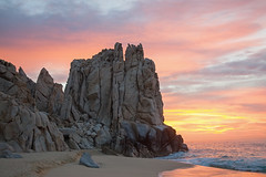 "Sunrise at Land's End (jimbobphoto) Tags: solmar sunrise sky clouds color ocean pacificocean mexico cabo water beach waves sand ""lands end"" ""grand solmar"""