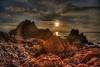 Out Among the Outcrop (Michael F. Nyiri) Tags: rocks rockyshore palosverdespeninsulacalifornia pelicancove ranchopalosverdes sunset sky pacificocean california southerncalifornia