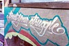 always obsessed with linguistics, usage like this drives me ... (giggie larue) Tags: graffiti message trust struggle sacramentoca