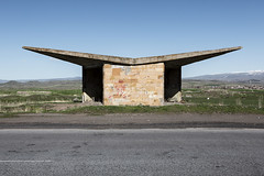 Bus stop of the Soviet times. (Stefano Perego Photography) Tags: stepegphotography bus stop soviet architecture design concrete tuff brutalism brutalist modernism armenia stefano perego