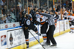"""Kansas City Mavericks vs. Ft. Wayne Komets, March 2, 2018, Silverstein Eye Centers Arena, Independence, Missouri.  Photo: © John Howe / Howe Creative Photography, all rights reserved 2018 • <a style=""""font-size:0.8em;"""" href=""""http://www.flickr.com/photos/134016632@N02/40598289312/"""" target=""""_blank"""">View on Flickr</a>"""