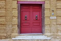 Maltese Doors (Douguerreotype) Tags: street city buildings malta architecture red urban door