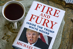 A Fun Read (JMS2) Tags: book trump coffeecup usa politics bestseller reading sony