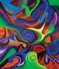 Green Thumb (MattCrux) Tags: psychedelic lsdtrip acid abstract trippy colorful rainbow lsd strange weird drug drugs weed high trip love acrylic painting acrylicpainting traditional canvas paint painted artist drawing illustration art arts expressive different beautiful artsy creativity creative