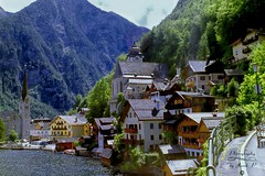 Hallstatt (Jurek.P) Tags: hallstatt austria alps alpy village architecture architektura europe lake scan 35mm minoltadynax7000i jurekp
