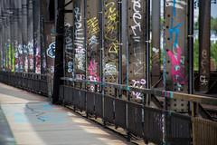 Frankfurt am Main: Bahn-Brücke (Viadukt) (kevin.hackert) Tags: rheinmain ffm metropole frankfurtammain rathaus römer main graffiti 069 frankfurt hessen