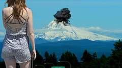 What if . . . (Scott 97006) Tags: mountain woman female lady volcano explosion mthood
