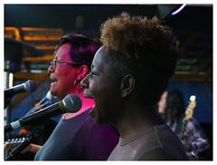 Backup singers for BJ Wilbanks (daveelmore) Tags: backupsinger singer musician sing music festival concert song hemlockfest portrait woman bjwilbanks mzuiko40150mmr
