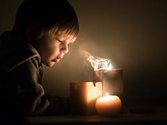 spirits (iwona_podlasinska) Tags: candle child boy smoke light