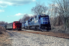 Conrail; Three Bridges NJ; 3/1992 (Railroad Photographer) Tags: blackriverwestern diesel newjersey conrail brw cr consolidatedrail nj flemington unitedstates us trains railroads railroad train railway