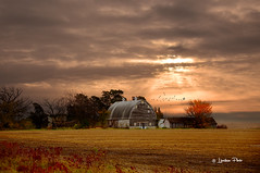 Autumn Evening # 133 (Mike Linnihan) Tags: old red barn sunset farm
