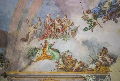 San Tammaro (CE), 2018, La Reale Tenuta di Carditello: gli affreschi del piano superiore.