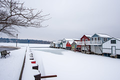 Canandaigua Boat Houses (jpetcoff) Tags: canandaigua lake boathouses boat house water ice snow winter cold frozen upstate ny gray white