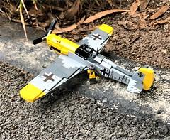Lego Messerschmitt BF 109 (Lego Admiral) Tags: ww2 wwii german luffewaffe fighter plane messerschmitt me109 bf109 battleofbritain lego legoadmiral