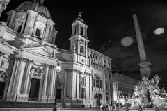 Roma maestosa (druzi) Tags: rome monocromatico monochrome roma piazzanavona navola navonasquare blackandwhite biancoenero bn bw noiretblanc nero monuments italy monumenti fontana obelisk obelisco church romans